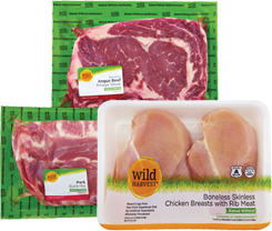 Packaged Wild Harvest Steak, Pork and Chicken Breasts